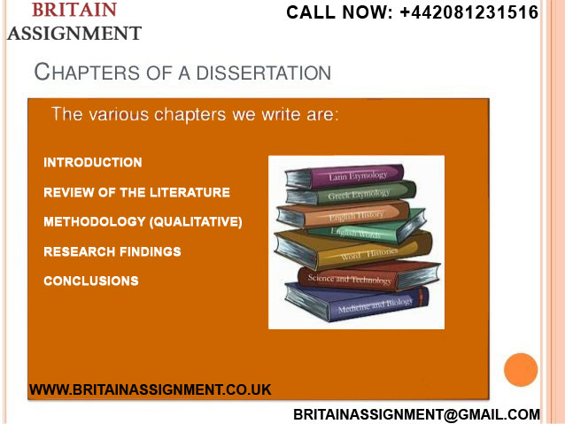Assistance with thesis chapters